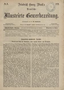 Deutsche Illustrirte Gewerbezeitung, 1873. Jahrg. XXXVIII, nr 2.