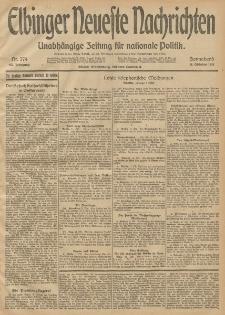 Elbinger Neueste Nachrichten, Nr. 279 Sonnabend 11 Oktober 1913 65. Jahrgang
