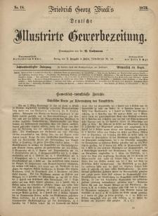Deutsche Illustrirte Gewerbezeitung, 1873. Jahrg. XXXVIII, nr 18.