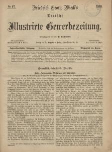 Deutsche Illustrirte Gewerbezeitung, 1873. Jahrg. XXXVIII, nr 27.