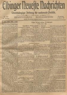 Elbinger Neueste Nachrichten, Nr. 282 Dienstag 14 Oktober 1913 65. Jahrgang