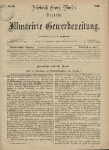 Deutsche Illustrirte Gewerbezeitung, 1873. Jahrg. XXXVIII, nr 40.