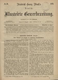 Deutsche Illustrirte Gewerbezeitung, 1873. Jahrg. XXXVIII, nr 43.