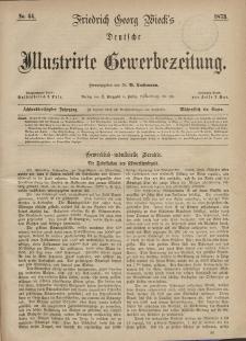 Deutsche Illustrirte Gewerbezeitung, 1873. Jahrg. XXXVIII, nr 44.