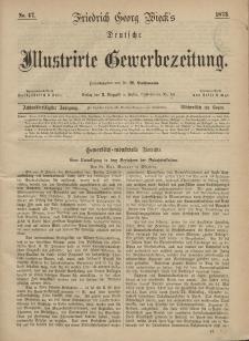 Deutsche Illustrirte Gewerbezeitung, 1873. Jahrg. XXXVIII, nr 47.