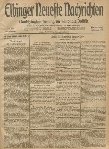 Elbinger Neueste Nachrichten, Nr. 284 Donnerstag 16 Oktober 1913 65. Jahrgang