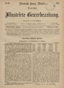 Deutsche Illustrirte Gewerbezeitung, 1874. Jahrg. XXXIX, nr 14.