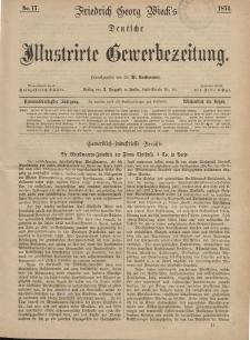 Deutsche Illustrirte Gewerbezeitung, 1874. Jahrg. XXXIX, nr 17.