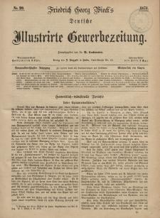 Deutsche Illustrirte Gewerbezeitung, 1874. Jahrg. XXXIX, nr 20.