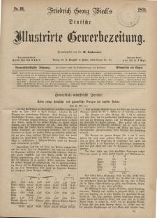 Deutsche Illustrirte Gewerbezeitung, 1874. Jahrg. XXXIX, nr 23.