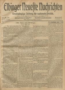 Elbinger Neueste Nachrichten, Nr. 286 Sonnabend 18 Oktober 1913 65. Jahrgang