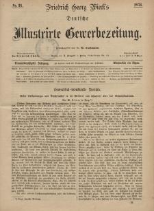 Deutsche Illustrirte Gewerbezeitung, 1874. Jahrg. XXXIX, nr 31.