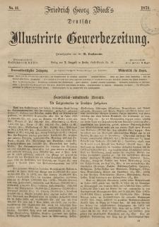Deutsche Illustrirte Gewerbezeitung, 1874. Jahrg. XXXIX, nr 44.
