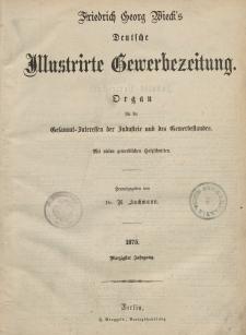 Deutsche Illustrirte Gewerbezeitung. Jahrg. XL. (Inhalts-Verzeichniß)