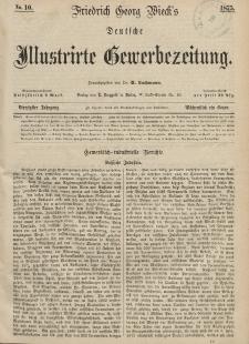 Deutsche Illustrirte Gewerbezeitung, 1875. Jahrg. XL, nr 10.