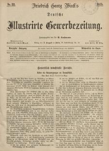 Deutsche Illustrirte Gewerbezeitung, 1875. Jahrg. XL, nr 22.