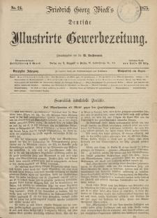 Deutsche Illustrirte Gewerbezeitung, 1875. Jahrg. XL, nr 24.