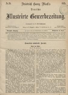 Deutsche Illustrirte Gewerbezeitung, 1875. Jahrg. XL, nr 25.