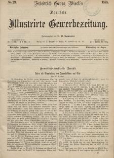 Deutsche Illustrirte Gewerbezeitung, 1875. Jahrg. XL, nr 29.