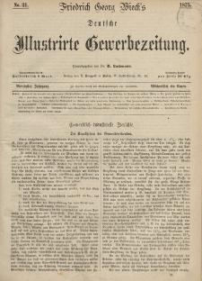 Deutsche Illustrirte Gewerbezeitung, 1875. Jahrg. XL, nr 31.