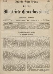 Deutsche Illustrirte Gewerbezeitung, 1875. Jahrg. XL, nr 33.