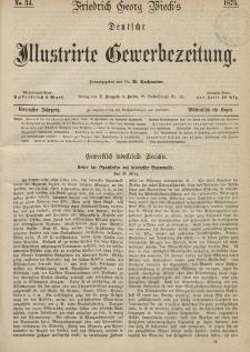 Deutsche Illustrirte Gewerbezeitung, 1875. Jahrg. XL, nr 34.