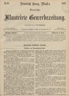 Deutsche Illustrirte Gewerbezeitung, 1875. Jahrg. XL, nr 41.