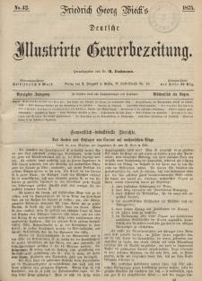 Deutsche Illustrirte Gewerbezeitung, 1875. Jahrg. XL, nr 42.