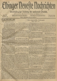 Elbinger Neueste Nachrichten, Nr. 291 Donnerstag 23 Oktober 1913 65. Jahrgang