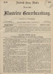 Deutsche Illustrirte Gewerbezeitung, 1875. Jahrg. XL, nr 44.