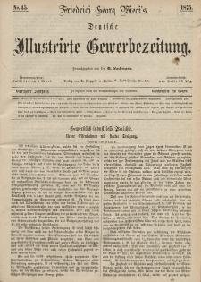 Deutsche Illustrirte Gewerbezeitung, 1875. Jahrg. XL, nr 45.