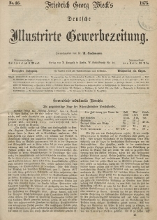 Deutsche Illustrirte Gewerbezeitung, 1875. Jahrg. XL, nr 46.