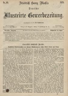 Deutsche Illustrirte Gewerbezeitung, 1875. Jahrg. XL, nr 49.