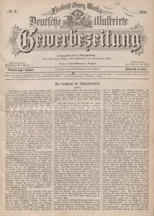 Deutsche Illustrirte Gewerbezeitung, 1876. Jahrg. XLI, nr 4.