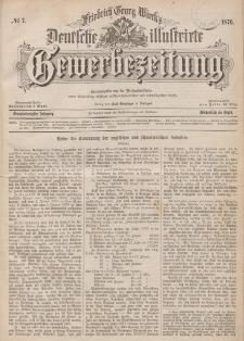 Deutsche Illustrirte Gewerbezeitung, 1876. Jahrg. XLI, nr 7.