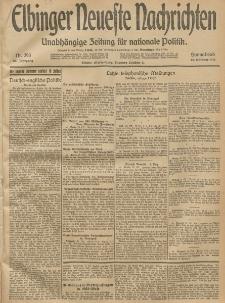Elbinger Neueste Nachrichten, Nr. 293 Sonnabend 25 Oktober 1913 65. Jahrgang