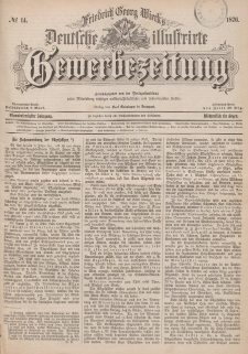 Deutsche Illustrirte Gewerbezeitung, 1876. Jahrg. XLI, nr 14.