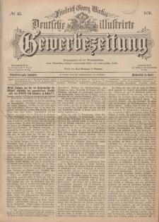 Deutsche Illustrirte Gewerbezeitung, 1876. Jahrg. XLI, nr 45.