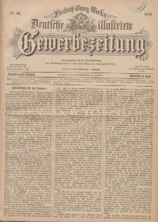 Deutsche Illustrirte Gewerbezeitung, 1876. Jahrg. XLI, nr 46.