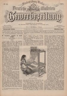 Deutsche Illustrirte Gewerbezeitung, 1877. Jahrg. XLII, nr 21.