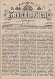 Deutsche Illustrirte Gewerbezeitung, 1877. Jahrg. XLII, nr 31.