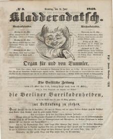 Kladderadatsch, 1. Jahrgang, Sonntag, 21. Juni 1848, Nr. 3 (Mai)