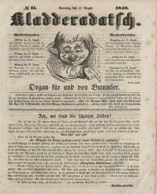 Kladderadatsch, 1. Jahrgang, Sonntag, 13. August 1848, Nr. 15