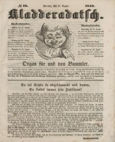 Kladderadatsch, 1. Jahrgang, Sonntag, 20. August 1848, Nr. 16