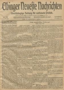Elbinger Neueste Nachrichten, Nr. 300 Sonnabend 1 November 1913 65. Jahrgang
