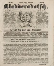 Kladderadatsch, 1. Jahrgang, Sonntag, 3. September 1848, Nr. 18