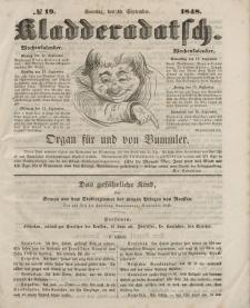 Kladderadatsch, 1. Jahrgang, Sonntag, 10. September 1848, Nr. 19