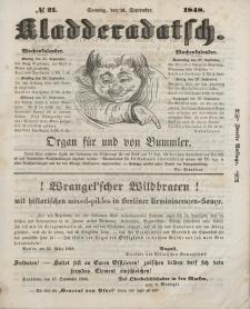 Kladderadatsch, 1. Jahrgang, Sonntag, 24. September 1848, Nr. 21