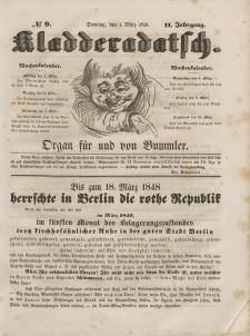 Kladderadatsch, 2. Jahrgang, Sonntag, 4. März 1849, Nr. 9