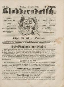Kladderadatsch, 2. Jahrgang, Sonntag, 3. Juni 1849, Nr. 22